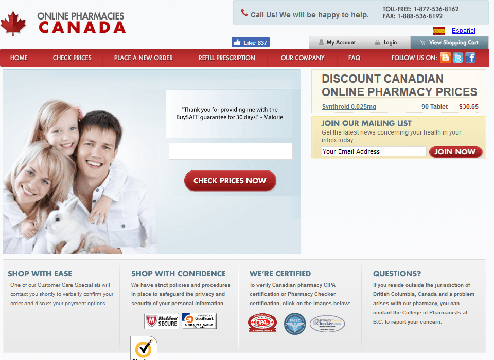 OnlinePharmaciesCanada - A Verified Source of Medications Online