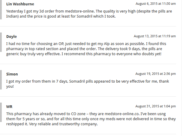 Medstore Online Customer reviews