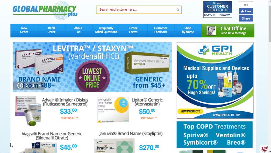 Global Pharmacy Plus Reviews