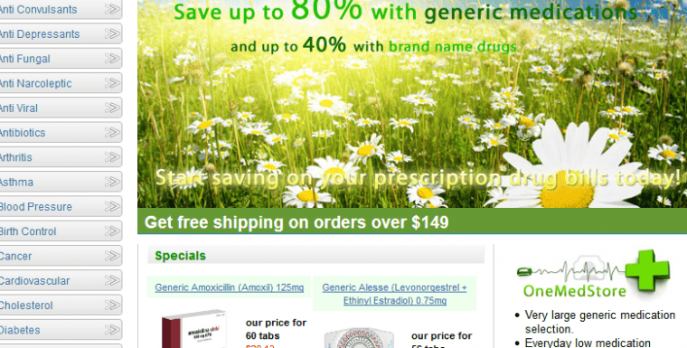 Onemedstore: An Online Pharmacy with Occasional Gaps in Delivery Process