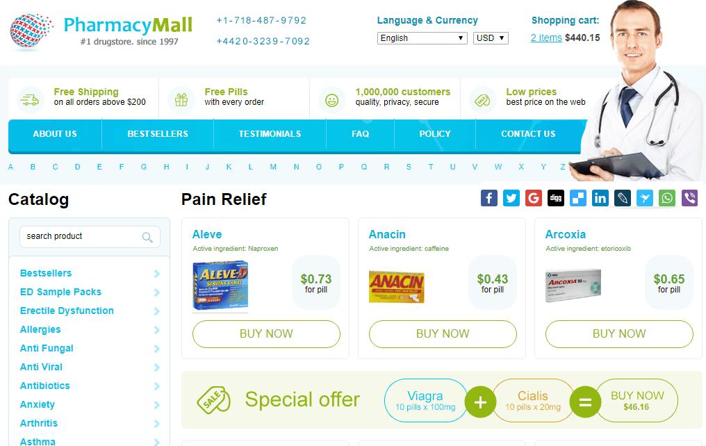 Pharmacy Mall Pain Management Catalog