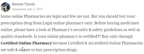 Ordering Meds Online