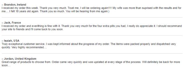 Quality Prescription Customers Feedback