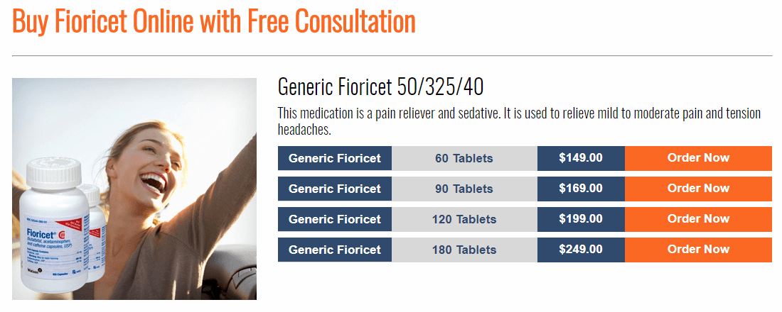 One of Many Fioricet-Selling Websites
