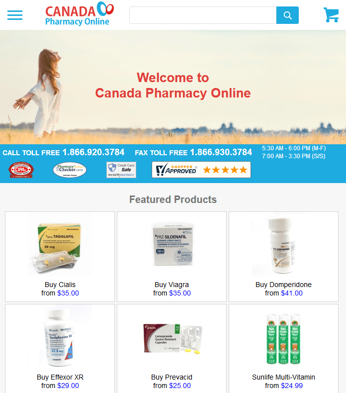 Canada Pharmacy Online Reviews