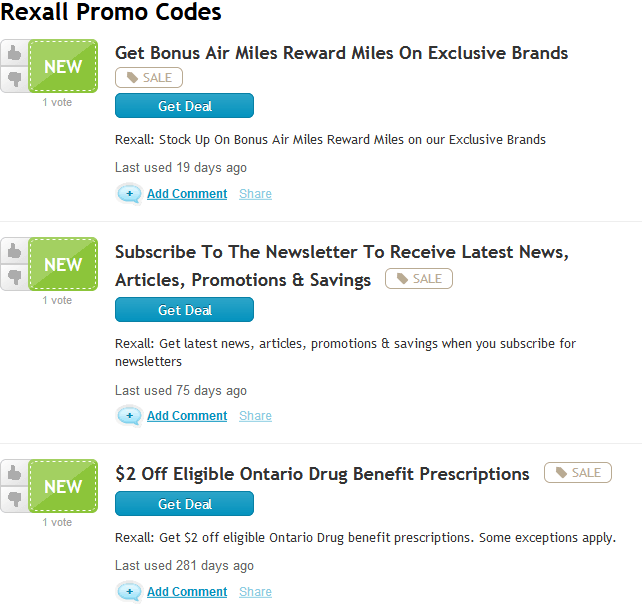 Photo of Rexall Pharmacy coupon code