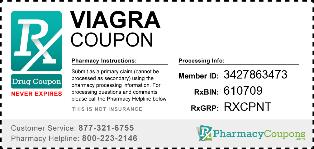 A drug coupon offered to customers online