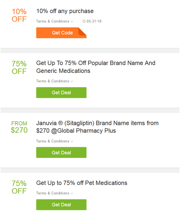 Global Pharmacy Plus Coupons